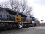 CSX 5210 resumes it's journey to Buffalo, crossing over NY 36